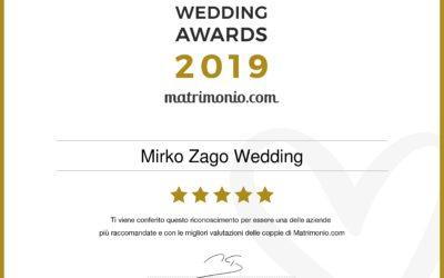 Mirko Zago Wedding Planner riceve il premio più prestigioso del settore nuziale